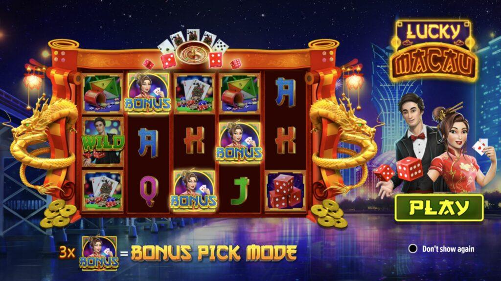 Lucky Macau slot interface
