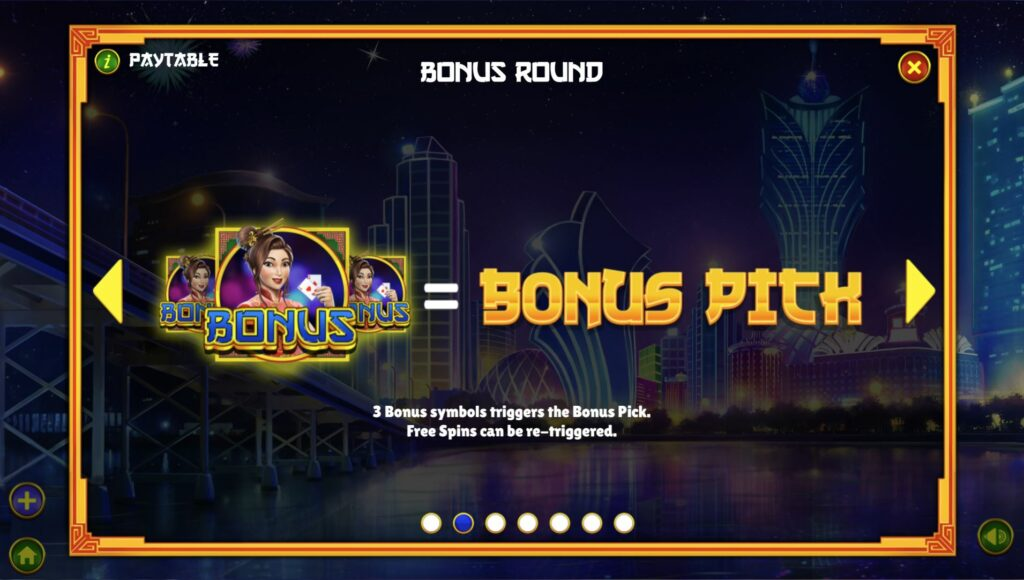 Pilihan Lucky Macau Bonus
