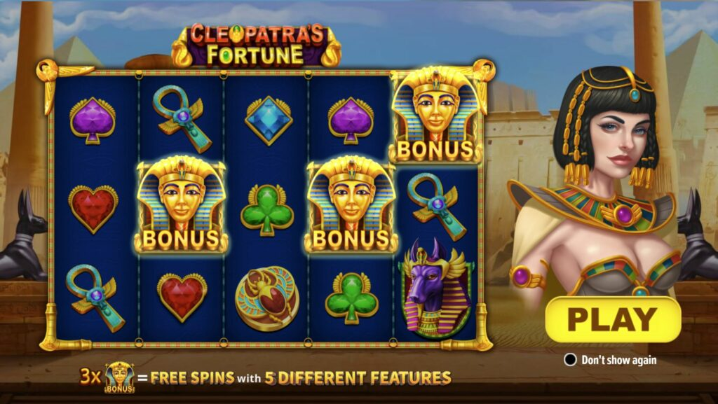 Cleopatra's Fortune Slot 5x3 Layout