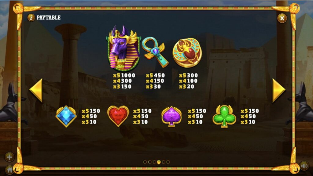 Cleopatra's Fortune Paytable