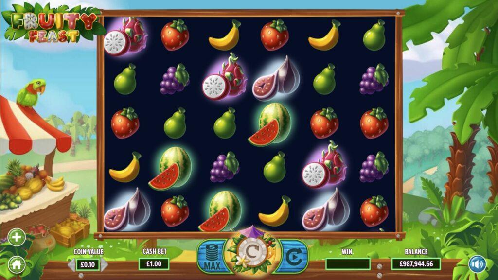 fruity feast slot grid