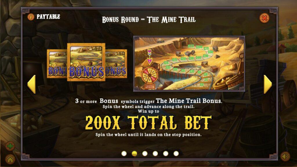 gold heist bonus paytable