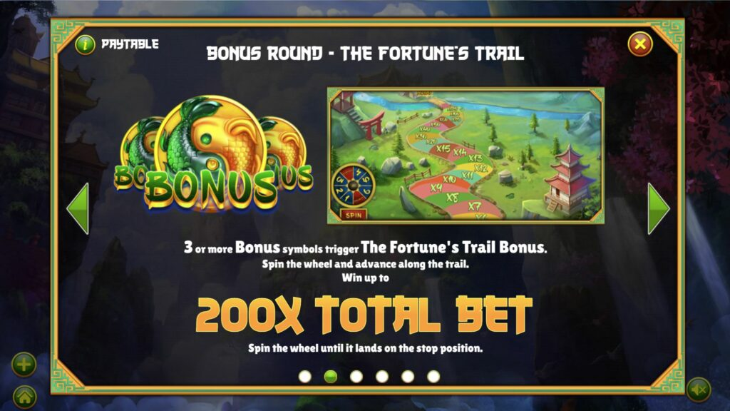 Mythical Creatures Bonus Paytable