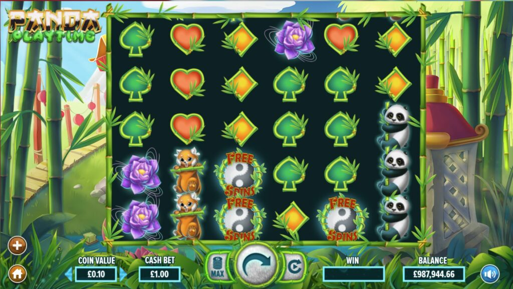 Panda playtime slot screenshot