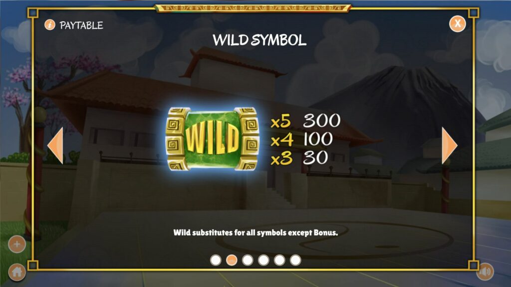 Twin Dragons Wild paytable