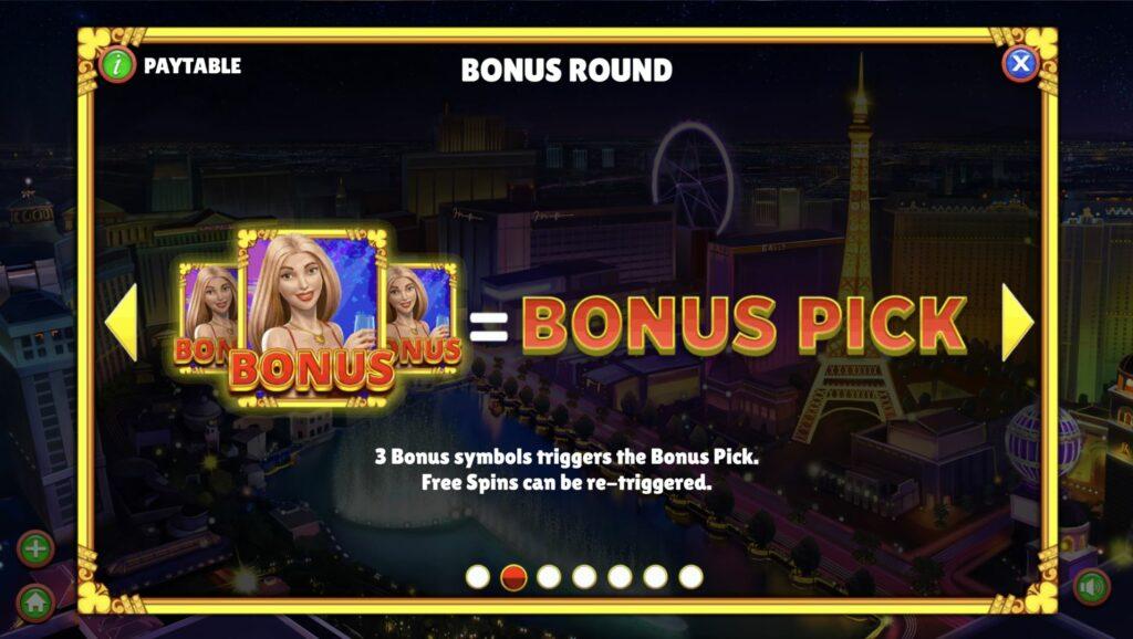 Memenangkan ronde bonus Vegas