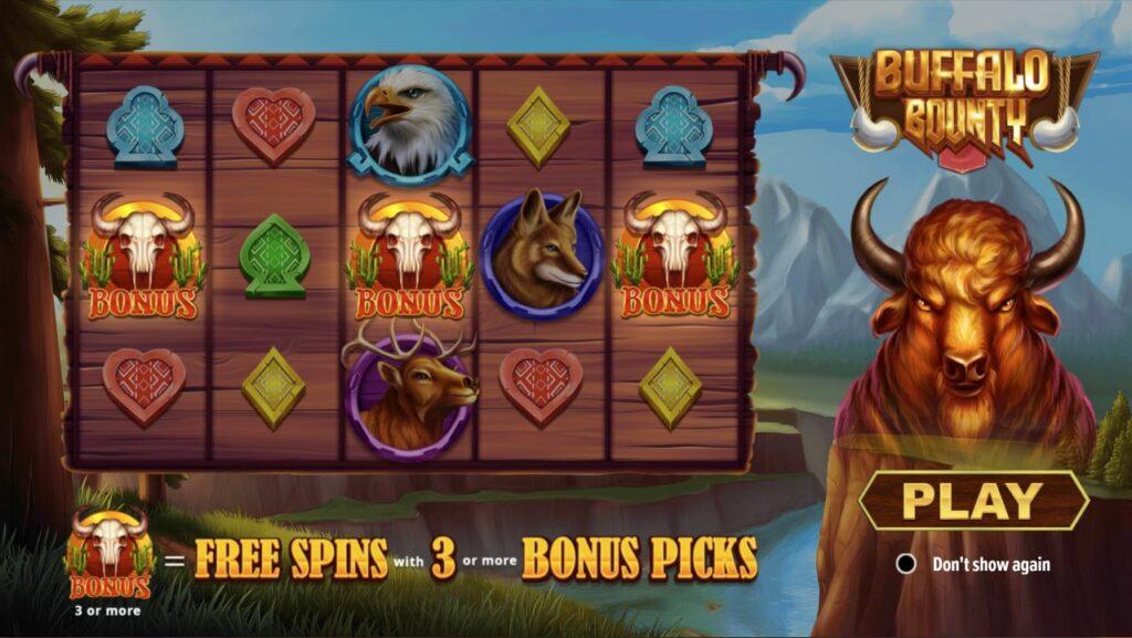 buffalo bounty slot screenshot