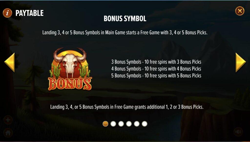 buffalo bounty bonus symbol