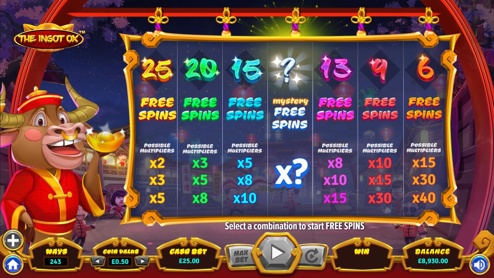 the ingot ox multiplier and bonus image