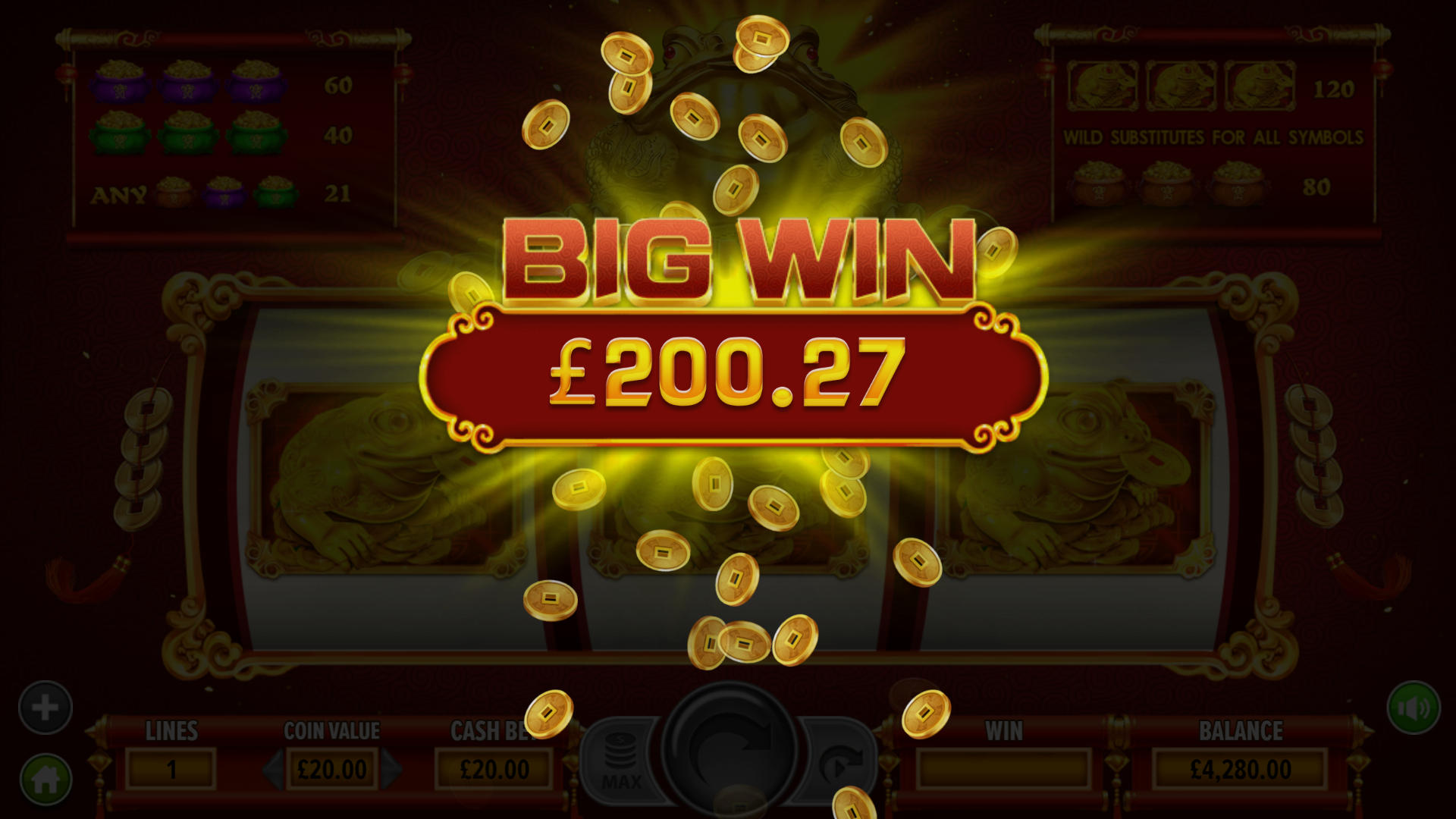 fortune frog big win image